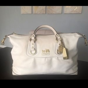 COACH Madison Sabrina off white satchel bag